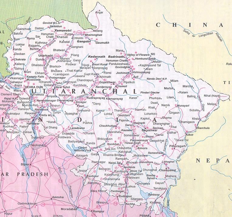 History ofUttarakhandUttarakhand Temple Map